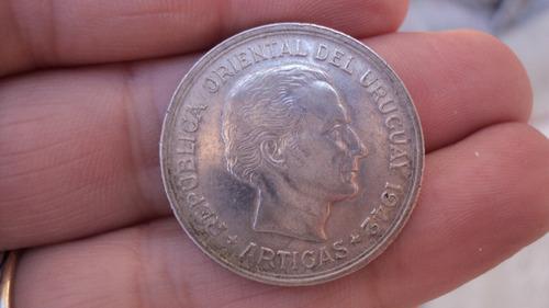 Moneda De $ 1 - Puma 1942 - Plata