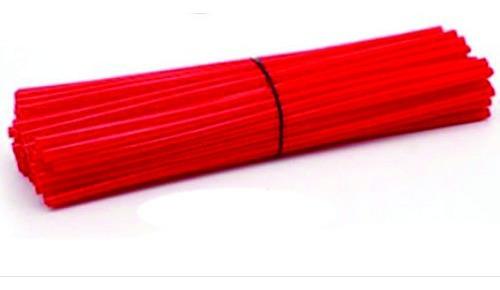 Capa De Raio Para Moto 76 Canudos Cor Vermelha