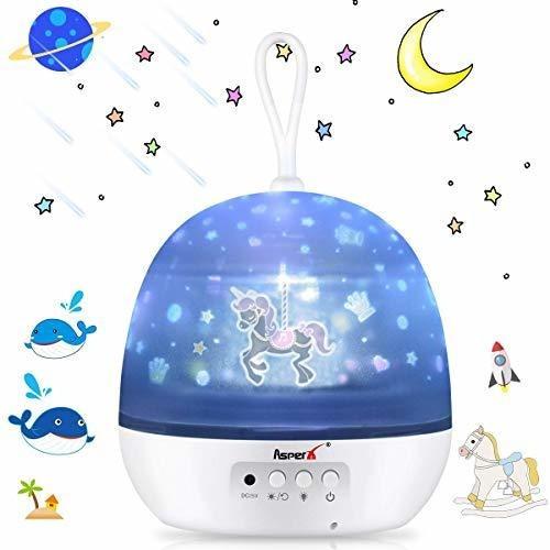 Asperx - Proyector De Luz Para Bebe 4 En 1 Proyector De Luz