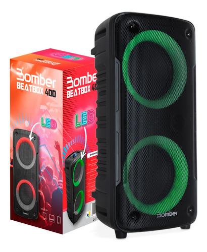 Caixa Som Amplificada Bluetooth Beatbox 400 Karaokê 12w Led