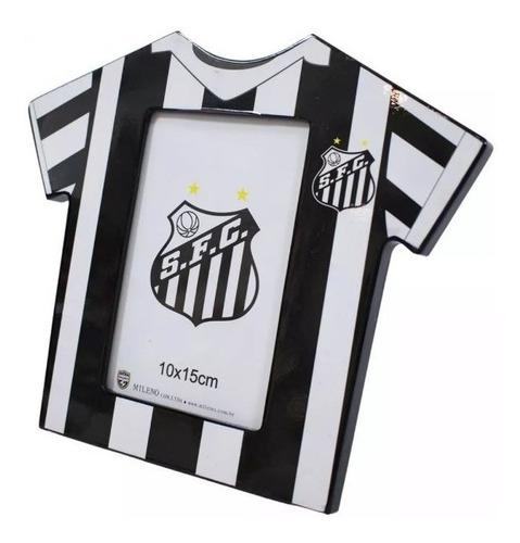 Porta Retrato Camisa Futebol Foto 10x15 Cm Santos