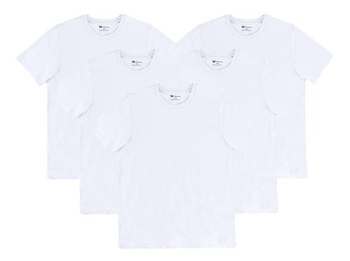 Kit 5 Camisetas Masculinas Básicas World Hering