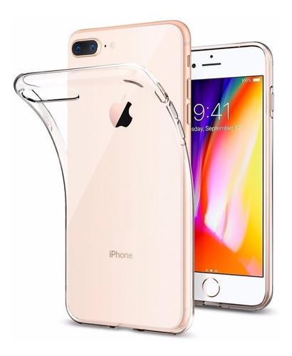 Estuche Transparente iPhone 8 Plus + Vidrio Templado