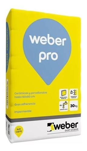 Pegamento Weber Col Pro Para Porcelanato Bolsa X 30 Kg