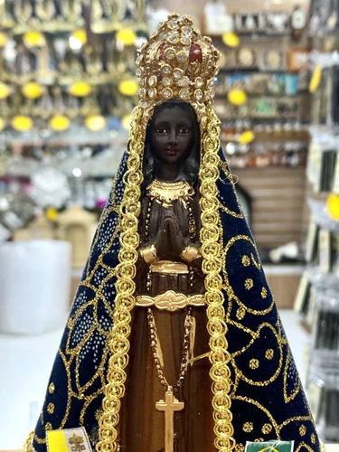 Imagem Nossa Senhora Aparecida 17cm Com Manto Linda!