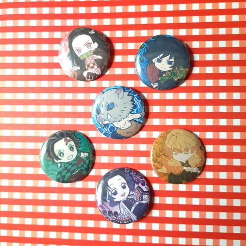 Set De 6 Pins Prendedores De Kimetsu No Yaiba Demon Slayer