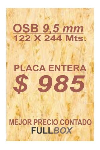 Placa Tablero Chapon Osb 9,5 Mm Mejor Precio Siempre Fullbox