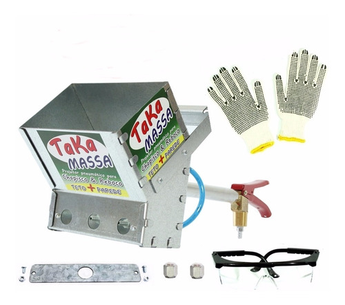 Projetor De Argamassa Chapisco Reboco Teto Parede 3.6 L Kit1
