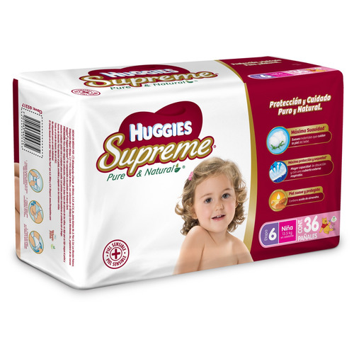 Pañales Huggies Supreme Etapa 6 Niñas Xxg 36u