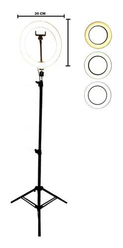 Estúdio Fotografia Iluminação 120 Led Ring Light Com Tripé