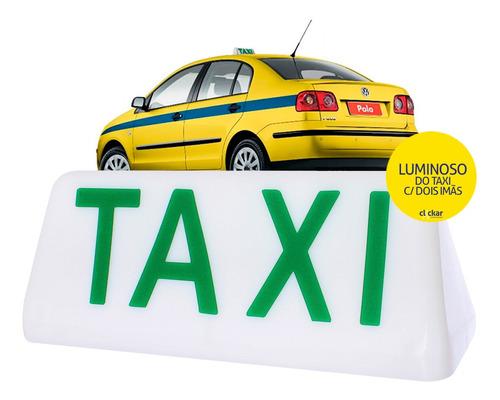 Luminoso Taxi Com 2 Imãs Com Leds Rio De Janeiro