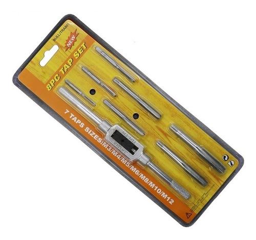 Set De Machos Milimetricos 8 Piezas M3 A M12 Acero Rapido