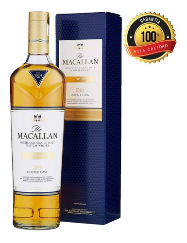 Whisky The Macallan Double Cask Gold Si - mL a $348
