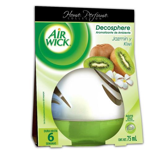 Aromatizante Air Wick Decosphere Domo Kiwi Y Jazmín 75ml