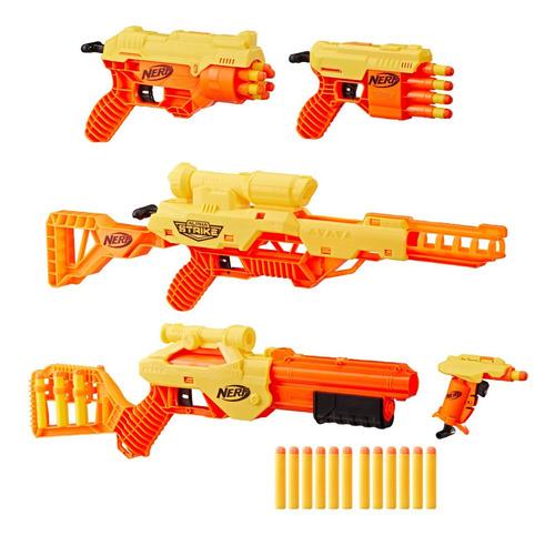 Lanzadores Nerf Kit De Mision Con 5 Armas Alpha Strike E8340