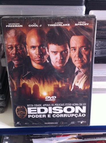 Dvd Edison - Poder E Corrupção (justin Timberlake) Lacrado Original