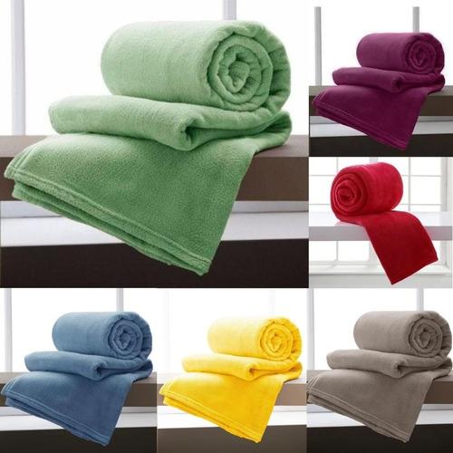 Manta De Casal Microfibra Cores Lisas Cobertor Promoção