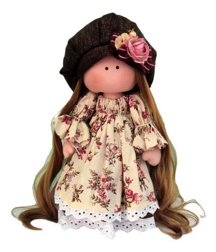 Boneca Russa Em Tecido Annika Modelo Primavera