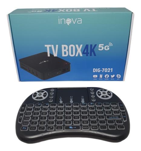 Tv Box 4k 32gb + 4gb De Ram + Controle Teclado Wireles