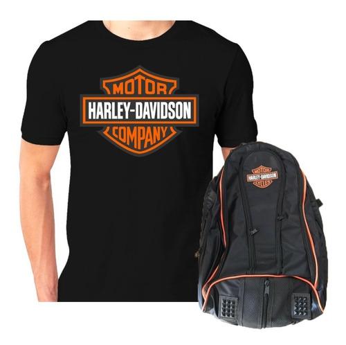 Mochila Impermeável Moto Camiseta Harley Davidson