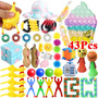 43pcs Pop it Fidgets Toy, Empurre Bubble Fidgets Brinquedos