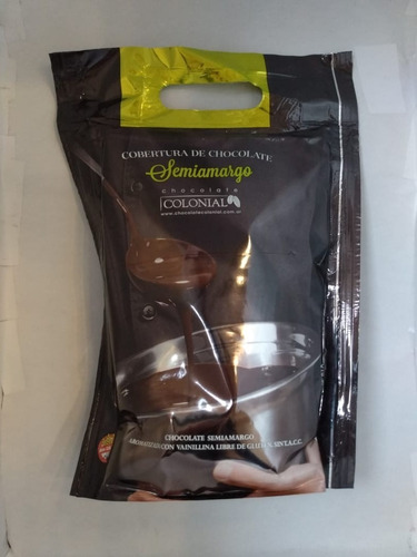 Chocolate Cobertura Semi-amargo X 1kg El Colonial Sin Tacc
