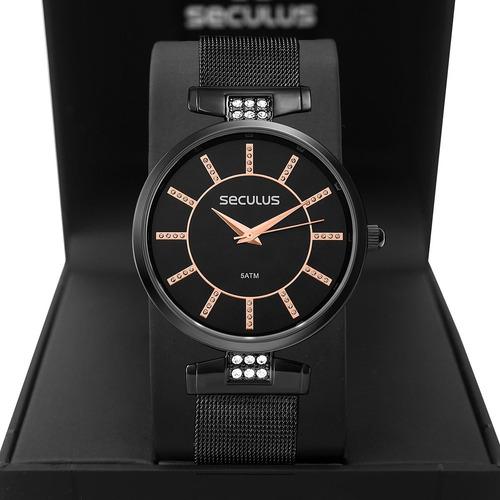 Relógio Feminino Seculus 2 Anos De Garantia 77060lpsvps2