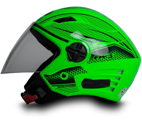 Capacete Aberto Para Moto Masculino X Open Neon Verde