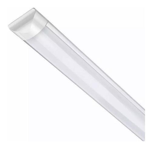 Luminária Tubular Sobrepor Led Linear 120cm 36w Branco Frio