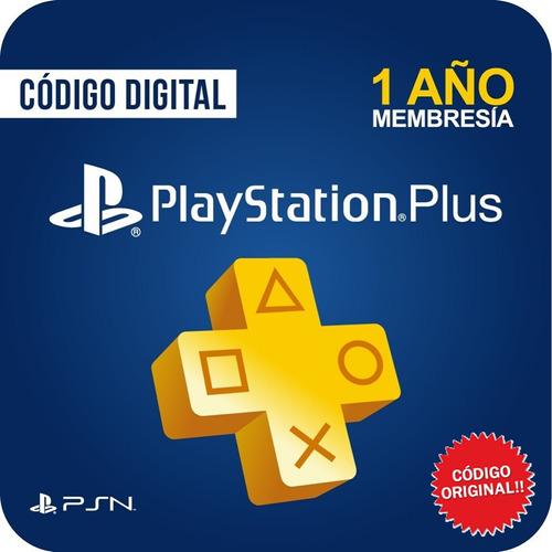Tarjeta Playstation Plus Psn 1 Año 12 Meses Código Original