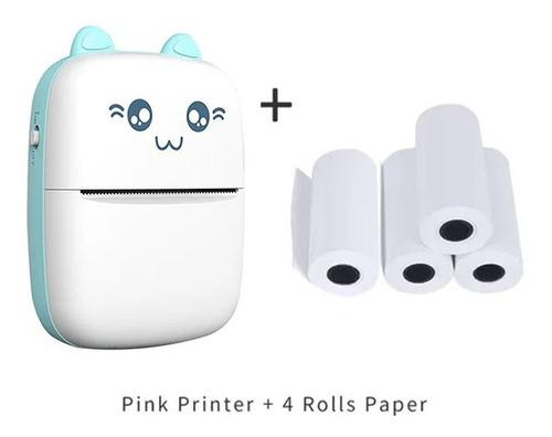 Mini Impressora Térmica Portátil Bt 200dpi + 4 Papéis
