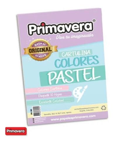 Cartulinas Colores Pastel Primavera X 50