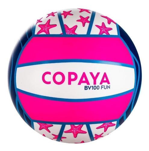 Bola De Vôlei De Praia Bv100 Fun - Cor Branco-rosa