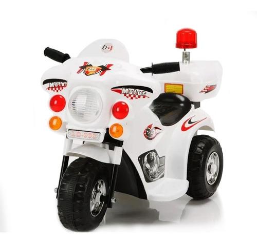 Mini Moto Elétrica Infantil Triciclo Motorizado Polícia 6v