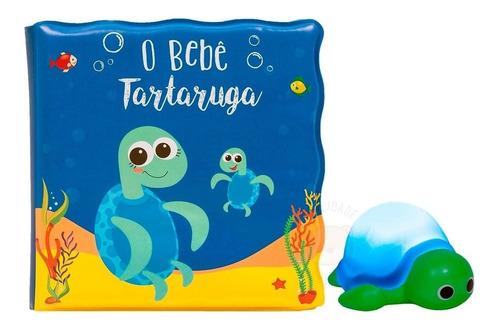 Kit Livro P Banho Com Bichinho Com Luz - Coelho Ou Tartaruga