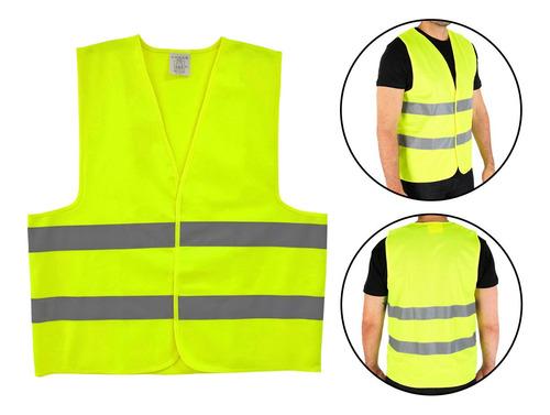Colete Segurança Refletivo Tipo Blusão Sinalização Amarelo