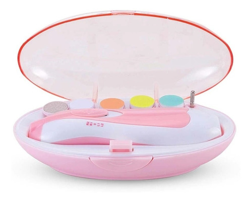 Aparador De Unha Elétrica Bebê Lixa Unha Azul Rosa Promocao