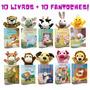 Livros Infantis Kit 10 Fantoches 10 Livros Muito Fofos!