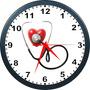 Cardiologia relógio De Parede Personalizado Cardiologia 24