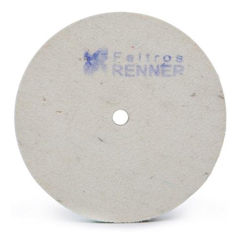 Disco De Feltro Ø150x1/2 Pol P/ Polir No Esmeril Cutelaria