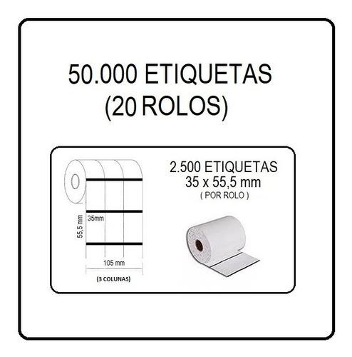 Etiquetas Composição Roupa 35x55mm Impressora Argox Zebra...