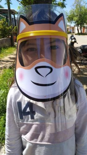 Máscara Protección Facial, Visera, Tapa Bocas Para Niños