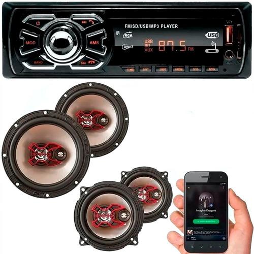 Radio Bluetooth Automotivo 4 Falantes Dianteiro Traseiro