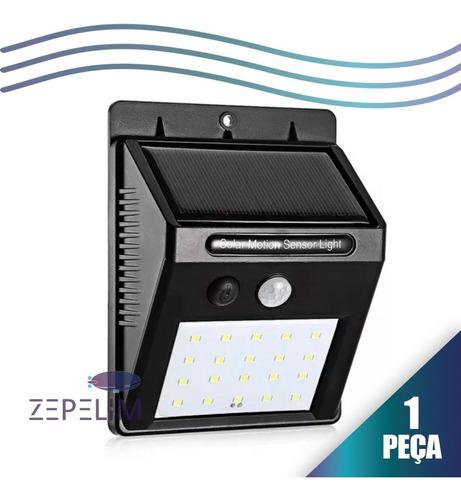 Refletor Balizador Solar 30w Sensor De Presença Externo