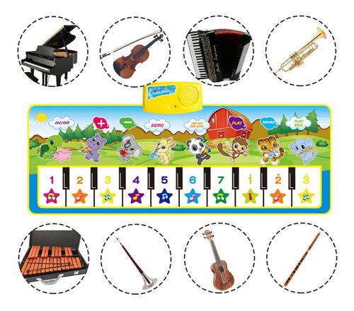 Tapete Dança Piano Musical Infantil 100x36cm