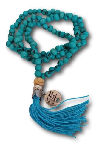 Japamala 108 Contas De Açai Com Medalha Hooponopono Ref.0661