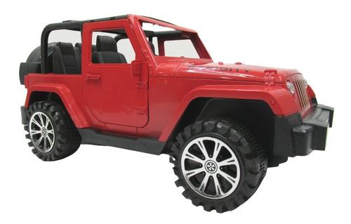 Carrinho Jeep Trilha Carro Miniatura Com Fricção Abre Porta