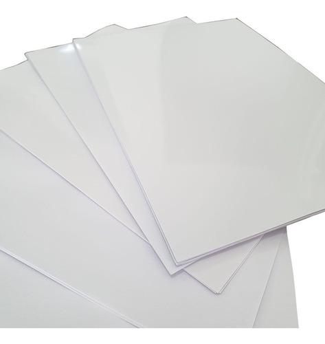 100 Adesivos Vinil Branco Brilho P/ Impressora Jato Tinta A4