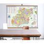 Mapa Estado Goias Banner Moldura Laminado Grande 120x90cm