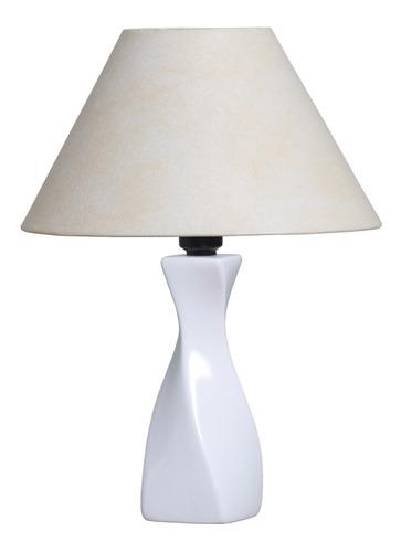 Abajur Clássico De Cerâmica Bivolt Base Cor Branco  34x25 Cm